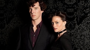 Sherlock stars Benedict Cumberbatch and Lara Pulver