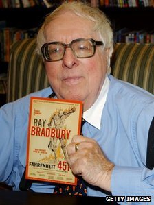 Ray Bradbury, pictured in 2002