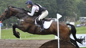 Horse and rider at Bramham International Horse Trials 2011