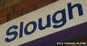 Slough sign