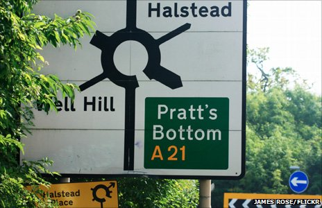 Sign of Pratt's Bottom