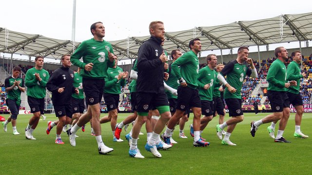Republic of Ireland Open training session at the Municipal Stadium in Gdynia