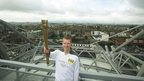 Hurling player Henry Shefflin on Croke Park skywalk