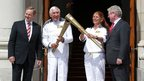 Irish Prime Minister Enda Kenny with torchbearers