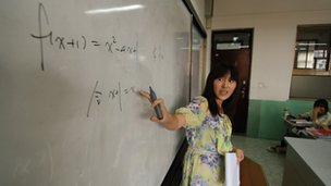 A teacher at the Zhabei Number 8 High School