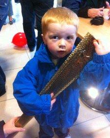 Callum Taylor, aged 4