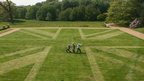 Union flag mowed into the lawn at Felbrigg Hall