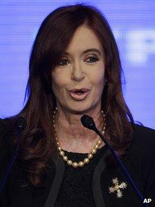 Argentine President Cristina Fernandez - file photo