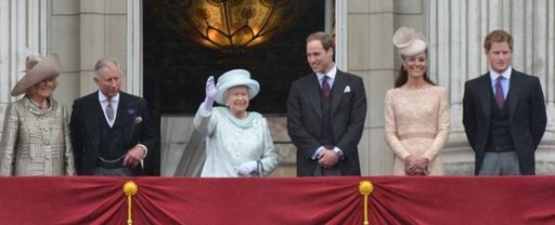 Diamond Jubilee: the balcony at Buckingham Palace