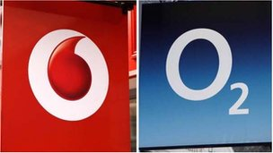 Vodafone and O2 logos