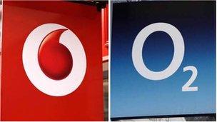 Vodafone and O2 logos