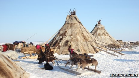 A Nenets 'chum' - or tent