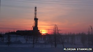 A drilling station in Siberia