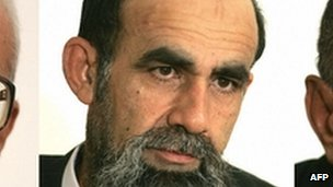 A photo of Abid Hamid Mahmud from July 2004, taken at a court appearance in Iraq.
