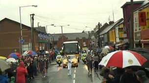 The torch goes through Ballymena