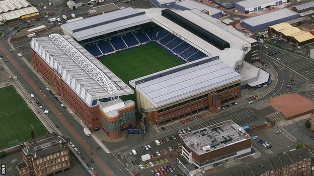 Ibrox Stadium, the home of Rangers