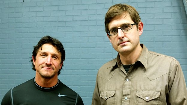Tommy Gunn (left) and Louis Theroux (right)
