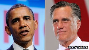 Composite photo of Barack Obama and Mitt Romney