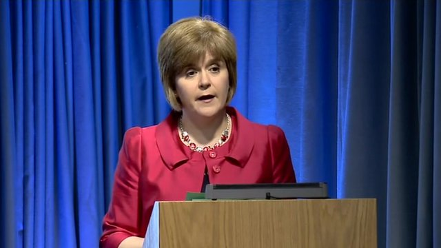 Scotland's Health Secretary Nicola Sturgeon