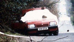 The car in which Harry Breen and Bob Buchanan were murdered