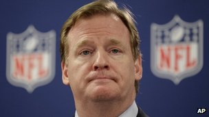 NFL Commissioner Roger Goodell speaks at a press conference in Atlanta 22 May 2012 