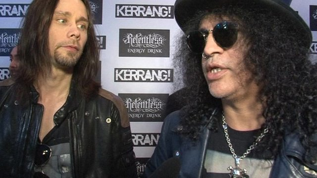 Slash was among the heavy metal stars at the Kerrang Awards