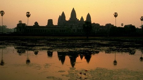 Angkor Wat at sunset 1 March, 2000