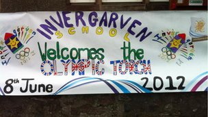 Invergarven School welcomes the torch