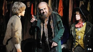 Rowan Atkinson as Fagin in Oliver!