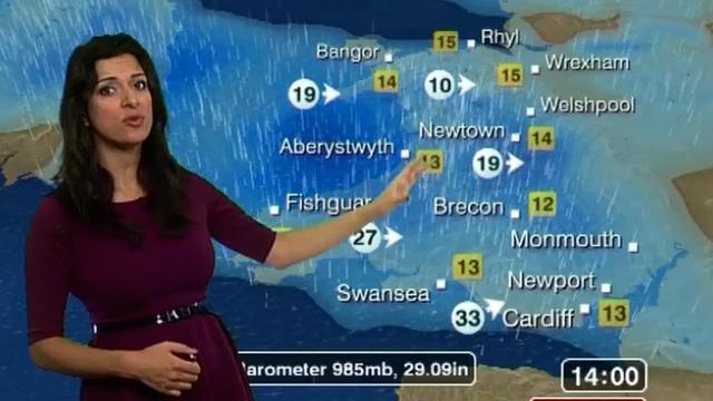BBC Wales weather presenter Behnaz Akhgar