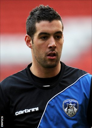 Oldham Athletic goalkeeper Dean Bouzanis