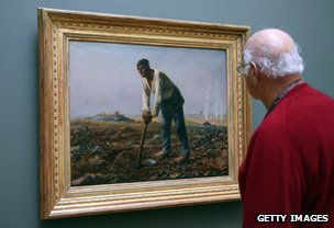 Jean-Francois Millet painting on show 