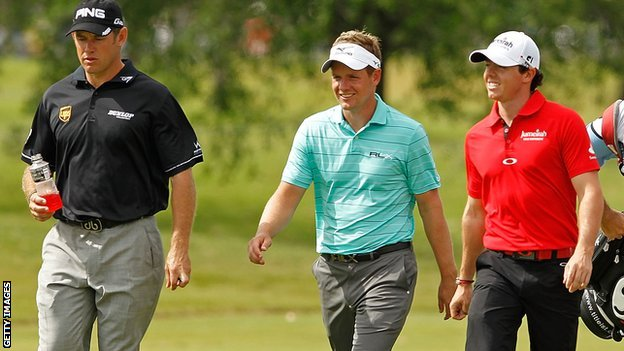 Lee Westwood, Luke Donald and Rory McIlroy