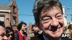 Left-wing leader Jean-Luc Melenchon in Henin-Beaumont