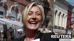 Leader of the far-right Front National Marine Le Pen ini Henin-Beaumont