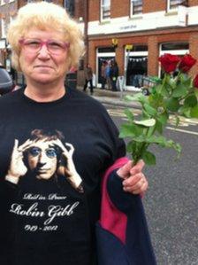 Bee Gees fan Sonia Chittenden