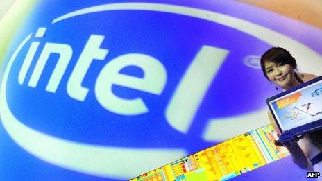 Intel logo at Computex