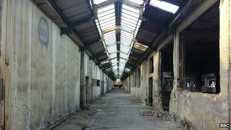 Factory in Patras, once used as a shelter