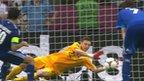 Przemyslaw Tyton saves Giorgos Karagounis' penalty