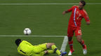 Roman Shirokov chips home Russia's second goal
