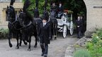 Robin Gibb's funeral procession