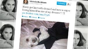 Victoria Beckham's Twitter entry