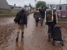 Muddy arrivals