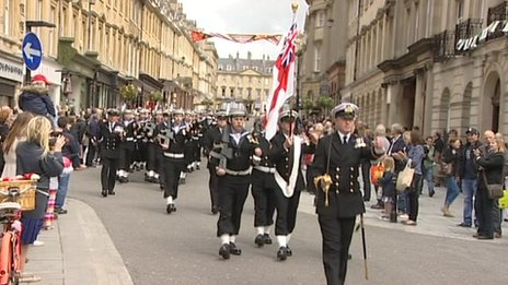 HMs Somerset procession in Bath, 9 June 2012