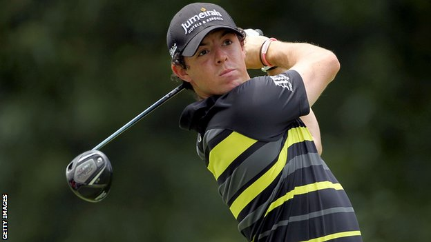Rory McIlroy in third-round action in Memphis