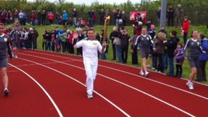 William Sichel carries the flame around Kirkwall