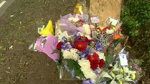 Pershore crash tributes
