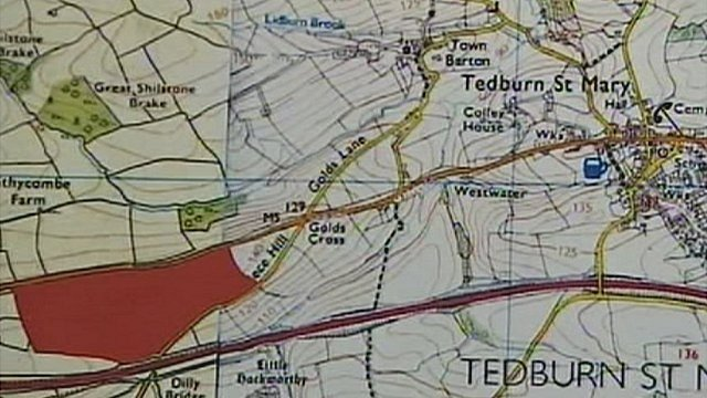 The proposed location of the farm