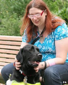 Jemma Brown and guide dog Gus