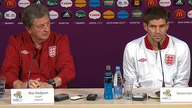 Roy Hodgson & Steven Gerrard